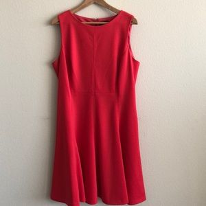 EUC American Living Coral Fit & Flare Dress SZ 16
